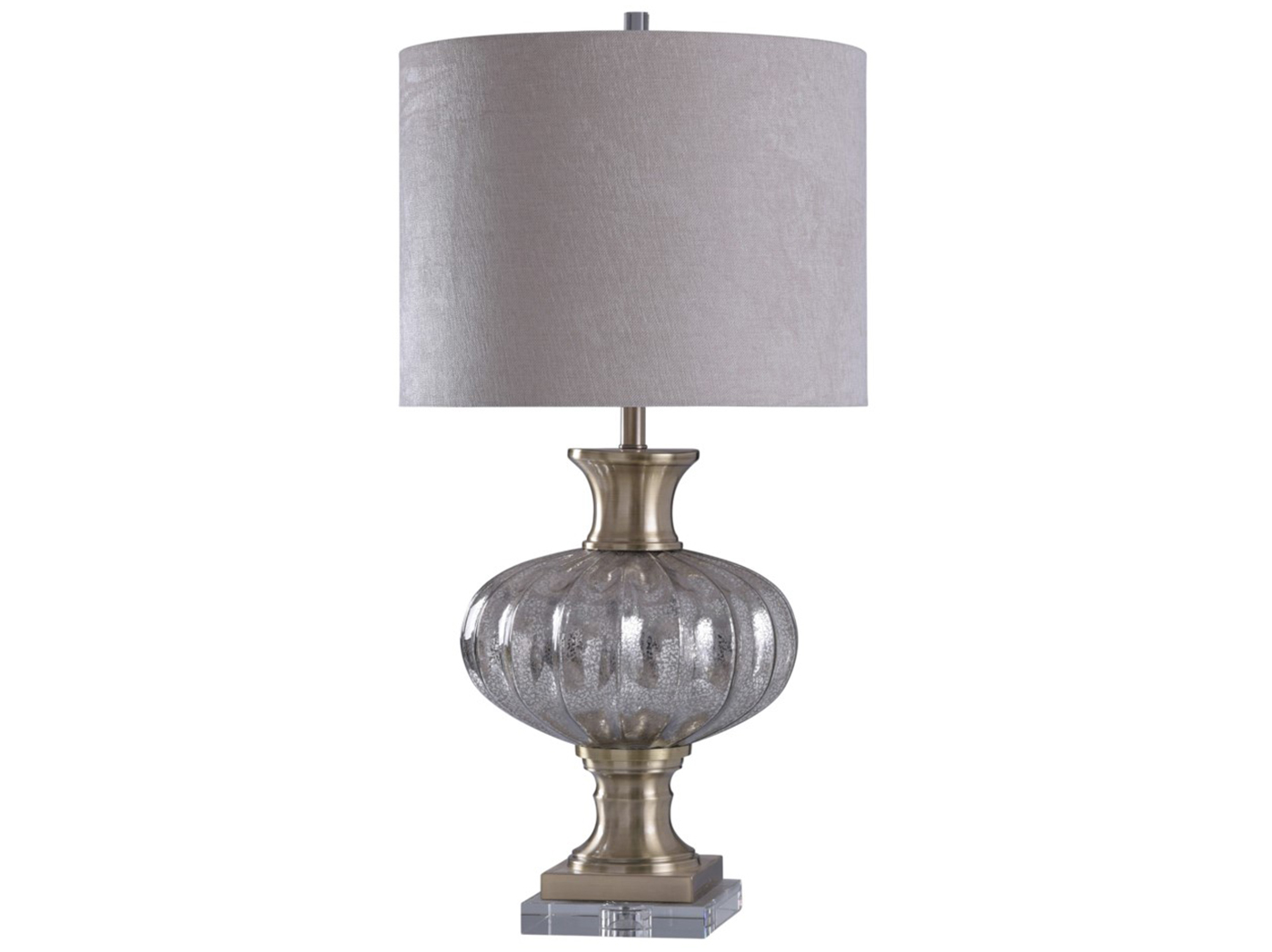 "Mercury Glass Table Lamp 36""H"