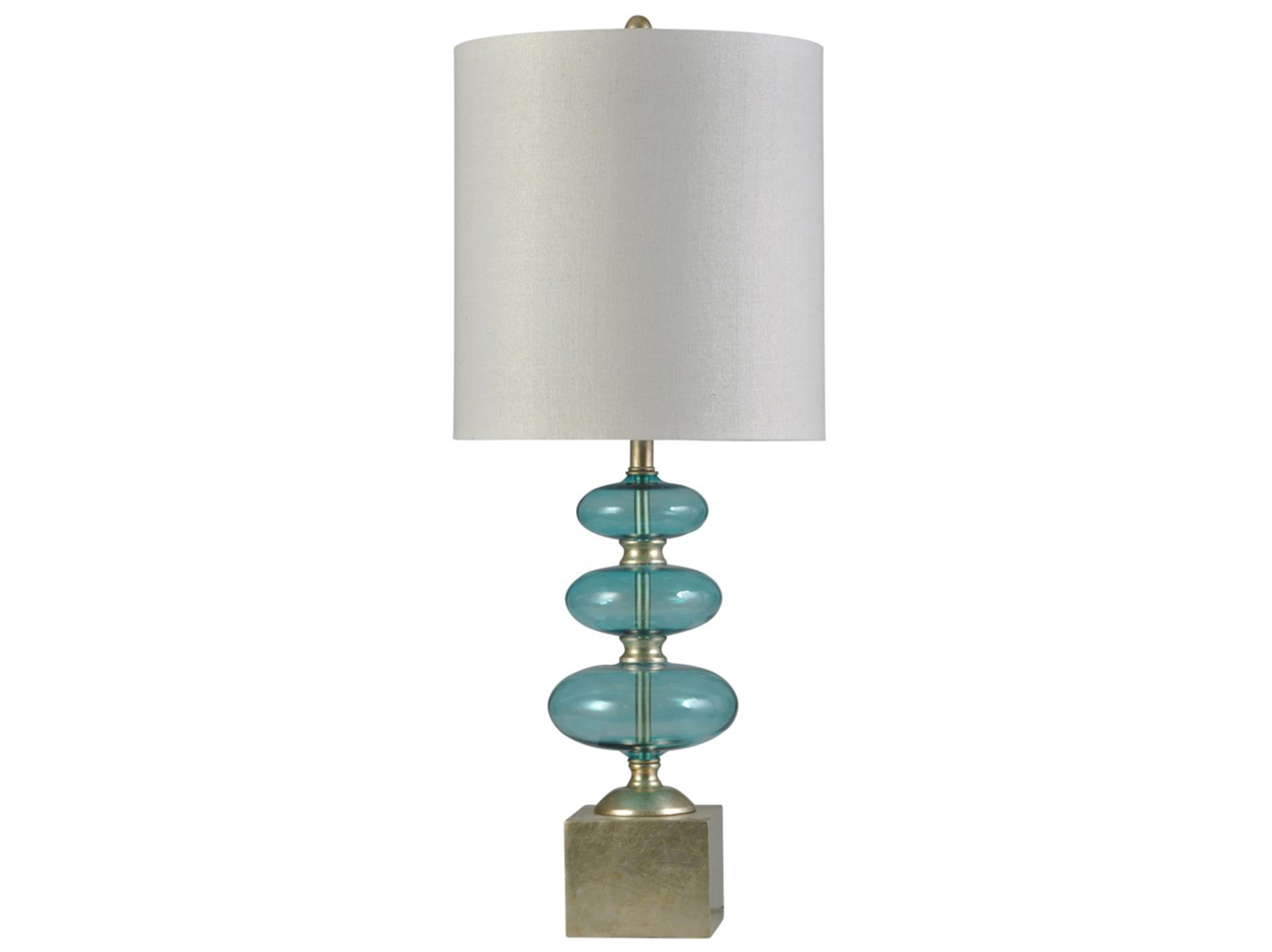Decor accents lamps steinhafels blue glass bubbles table lamp 37h aloadofball Gallery
