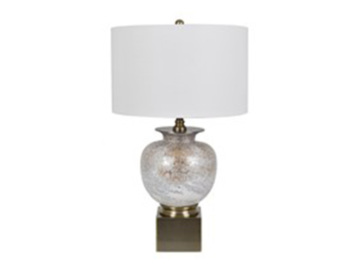 "Mottled Glass Table Lamp 31""H"