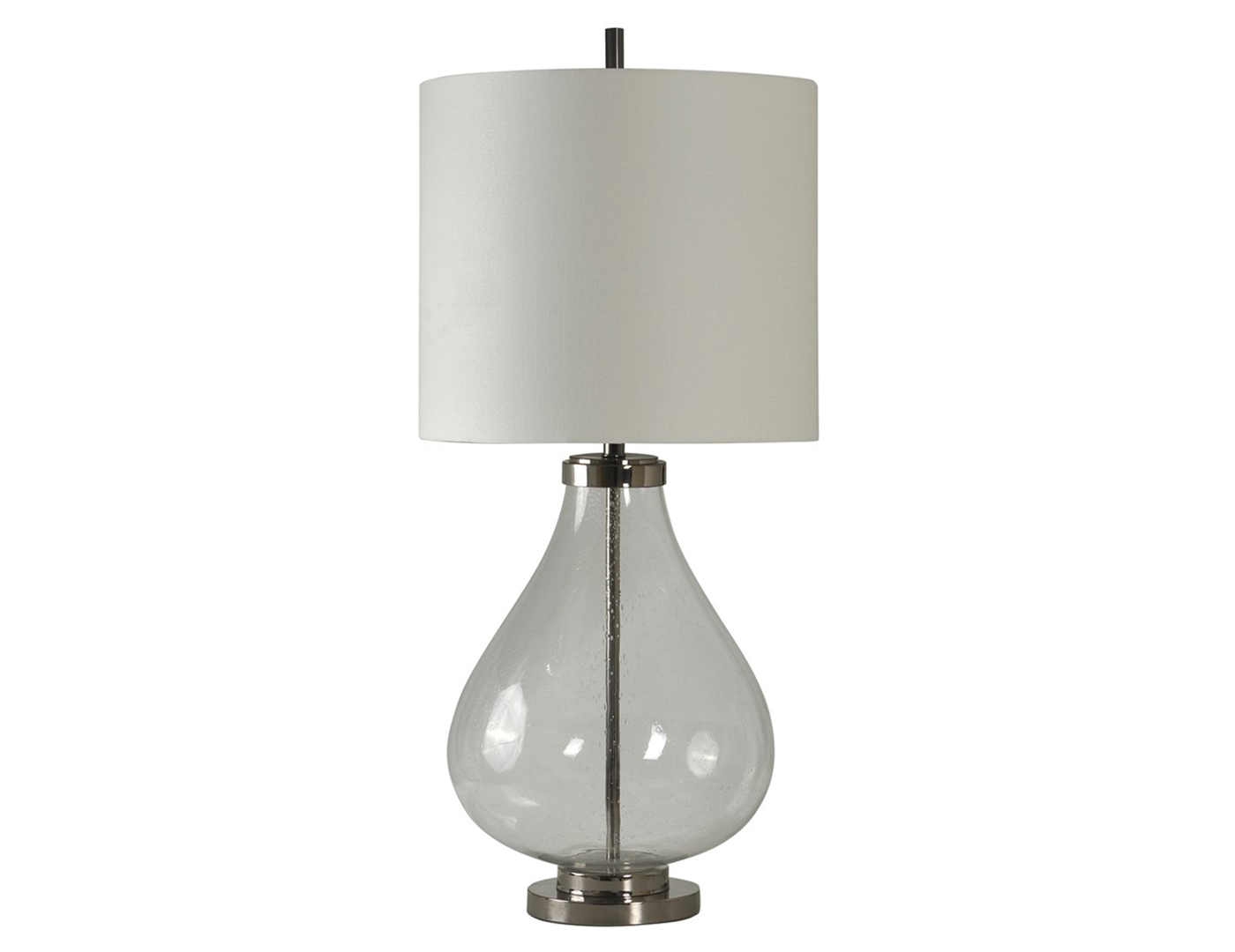 Seeded Glass Table Lamp