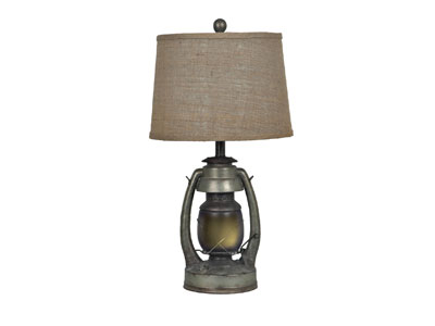 "Lantern Table Lamp 27""H"