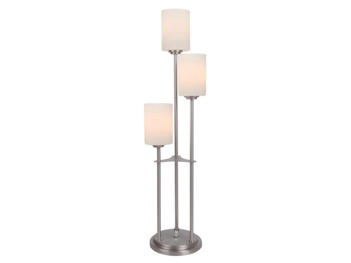 "3-Light Brushed Nickel Table Lamp 33""H"