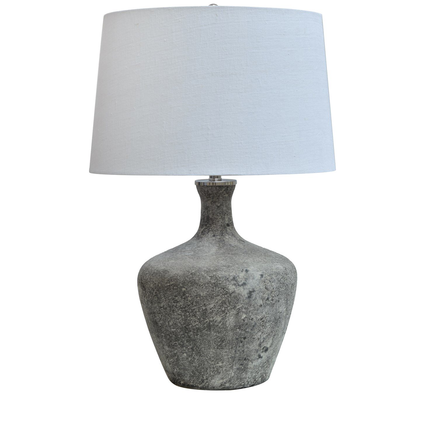 "Frosted Smoke Glass Table Lamp 28.5""H"