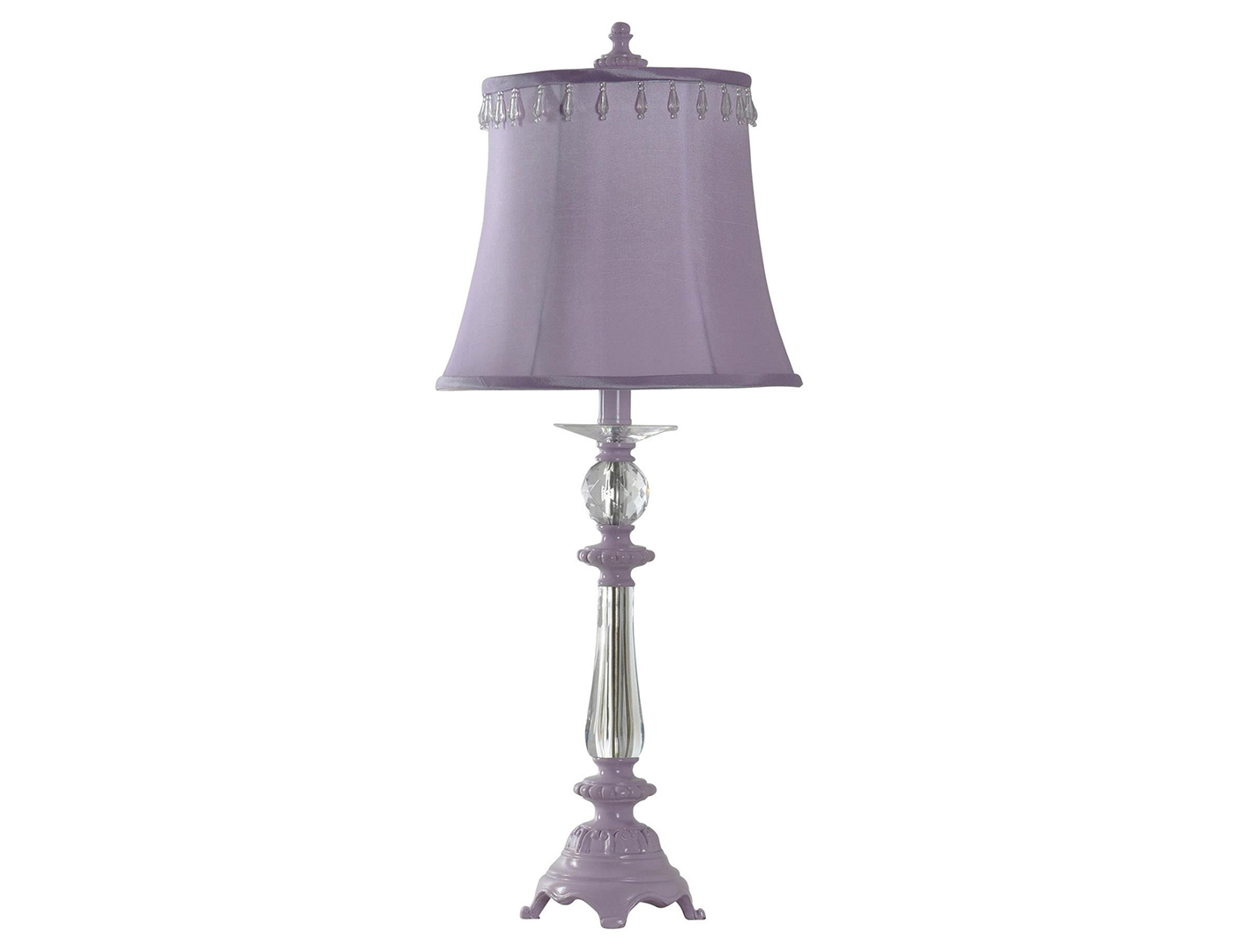 "Purple Kids Accent Lamp 27""H"