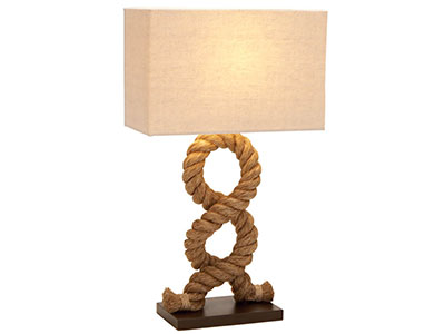 "Rope Table Lamp 28""H"