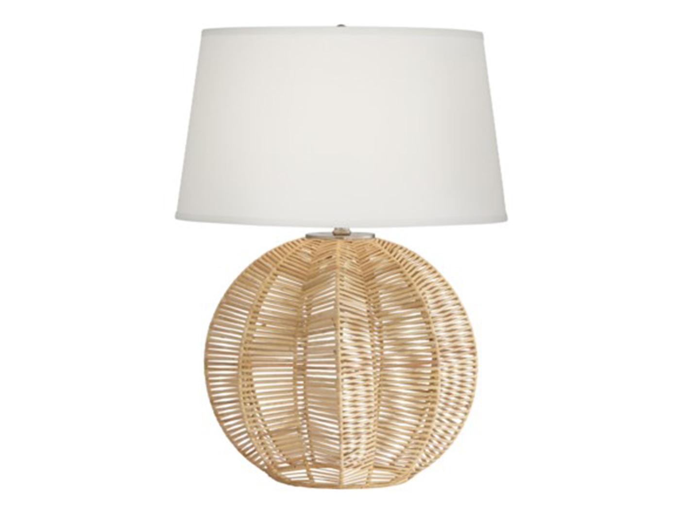 "Rattan Ball Table Lamp 28""H"