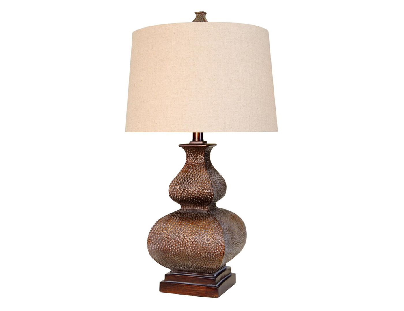 "Bronze Gourd Table Lamp 32""H"