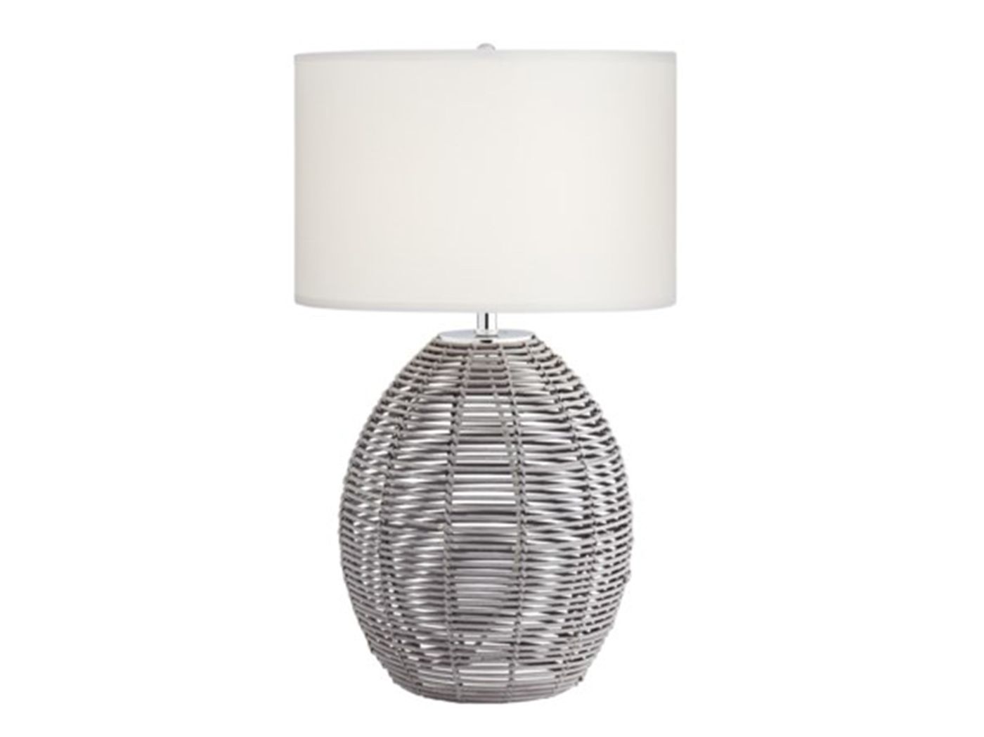 "Grey Rattan Table Lamp 29""H"