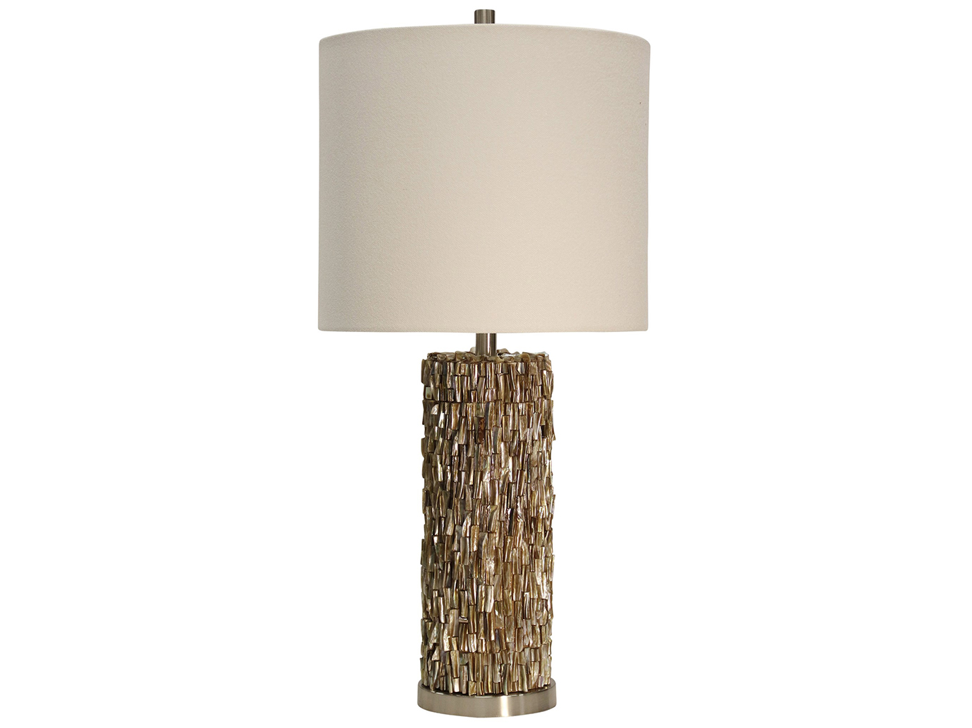 "Capiz Shell Table Lamp 32""H"