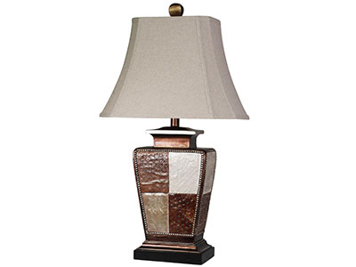 "Colorblock Table Lamp 39""H"