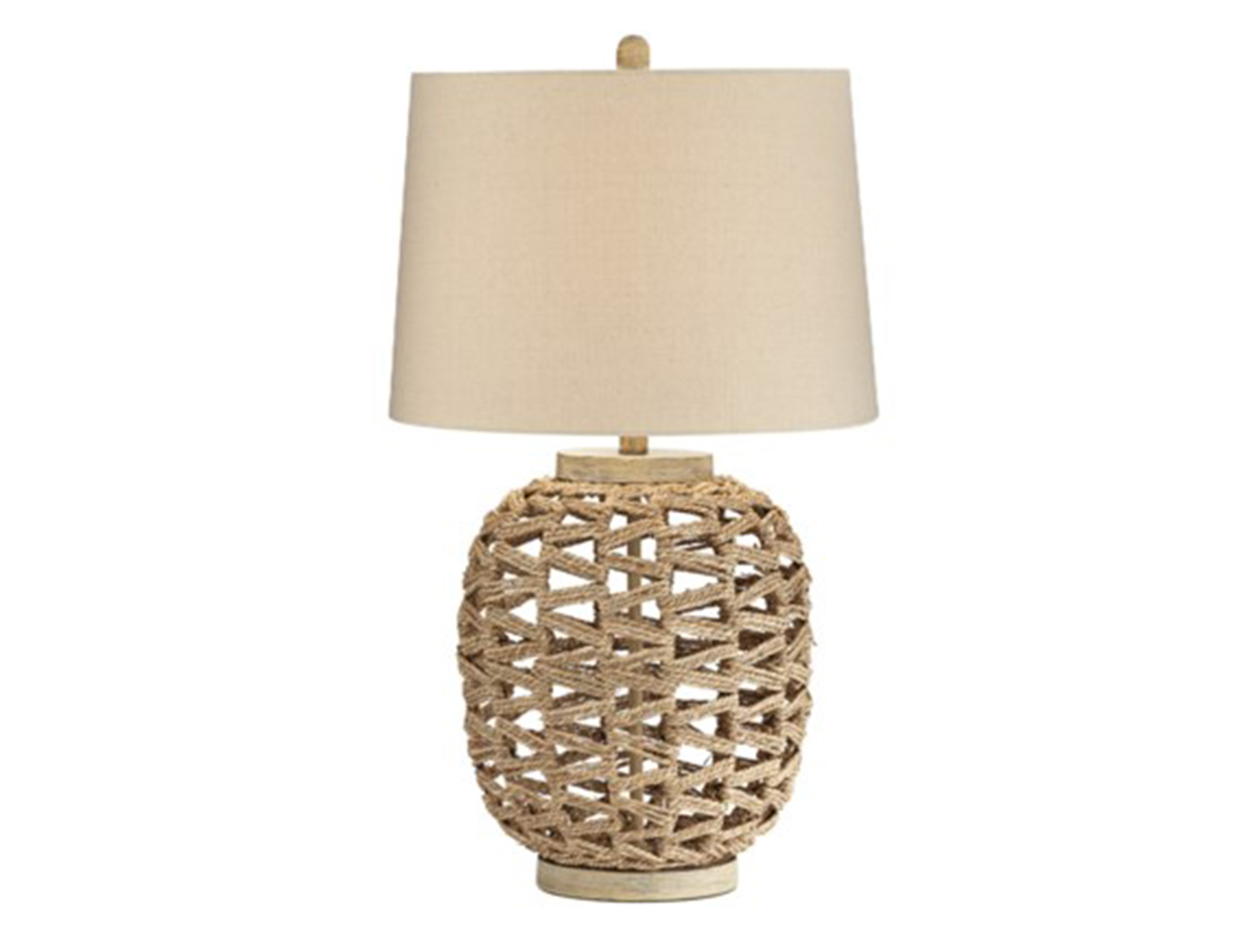 "Natural Rattan Rope Table Lamp 29.5""H"