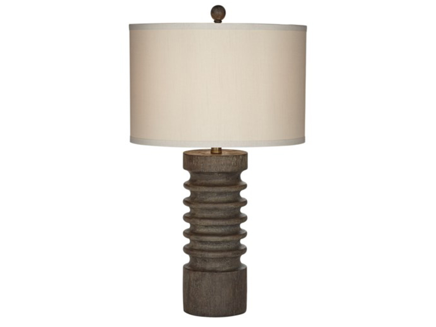 "Brown Column Table Lamp 28.5""H"