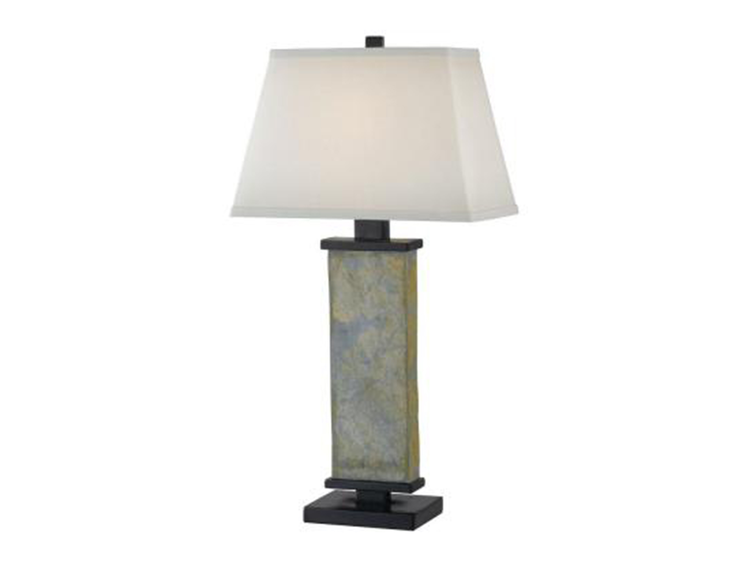 "Slate Column Table Lamp 29""H"