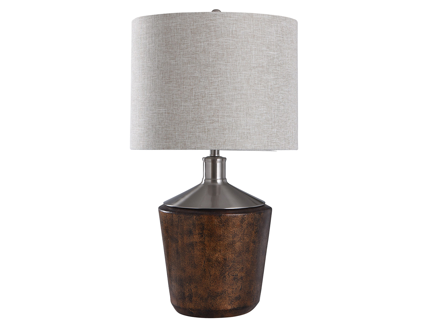 "Silver/Bronze Mottled Table Lamp 32""H"