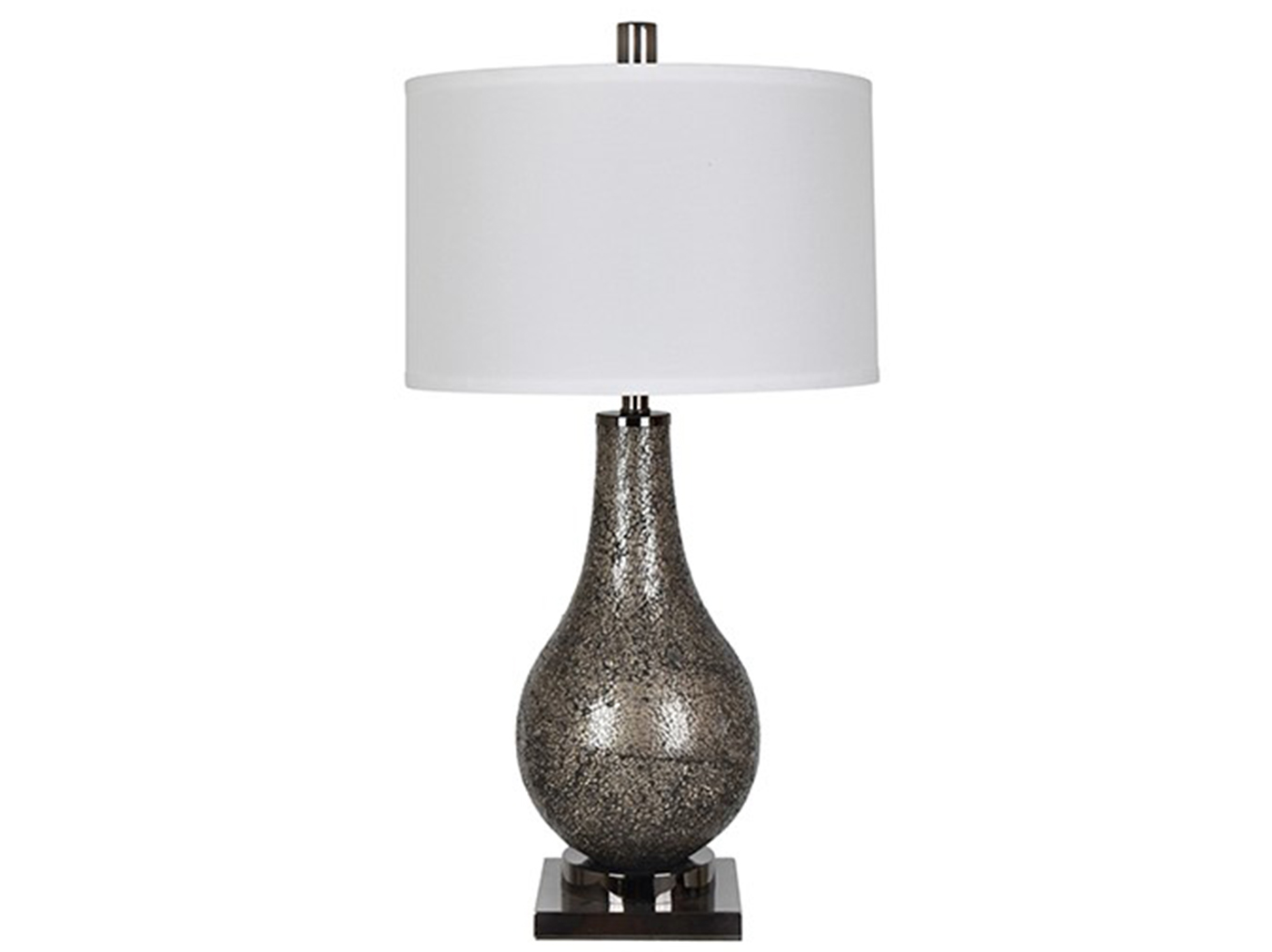 "Smoke Mirror Mosaic Table Lamp 32.5""H"