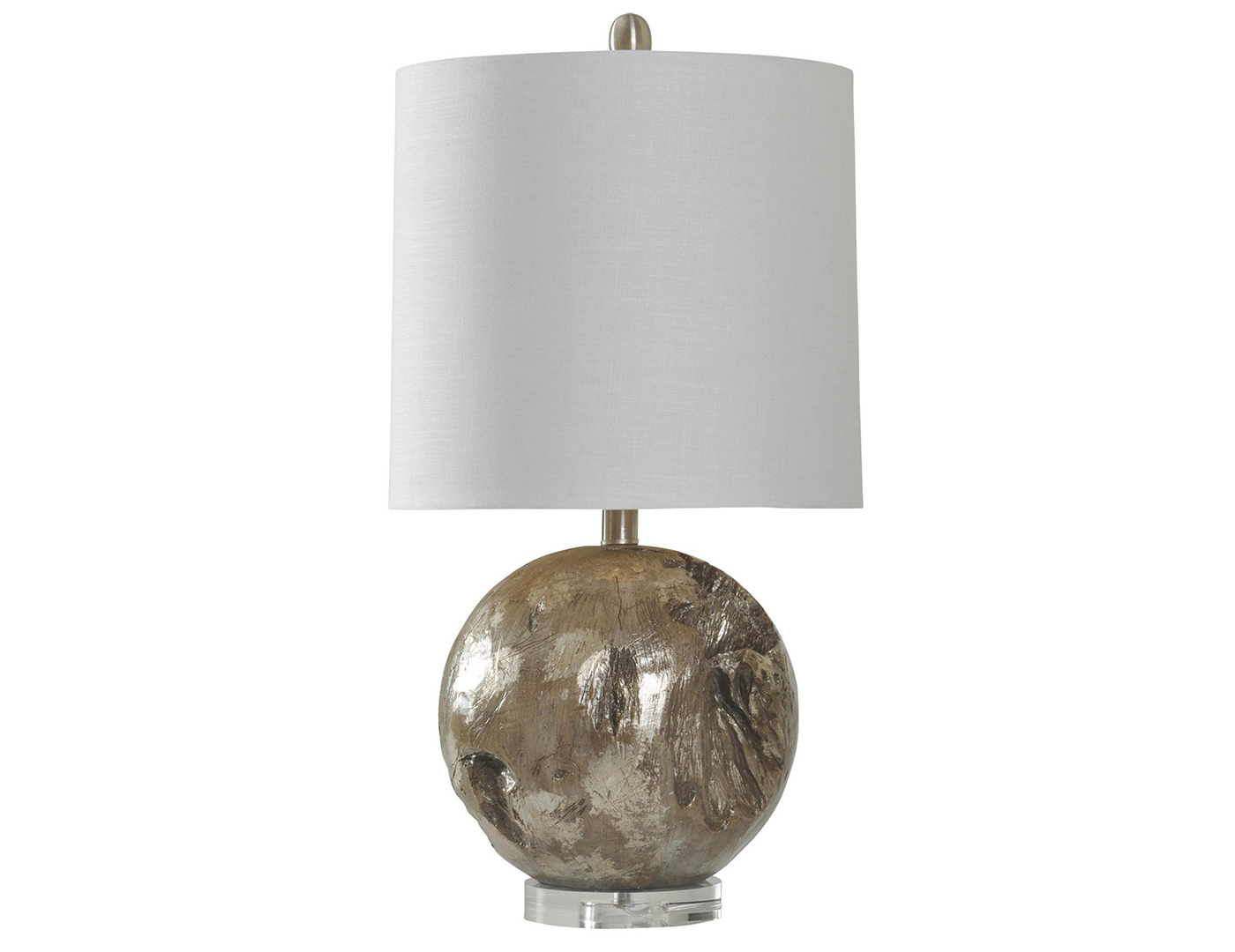 "Fossil Finish Round Table Lamp 25.5""H"