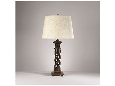 "Open Twist Table Lamps Pair 31.25""H"