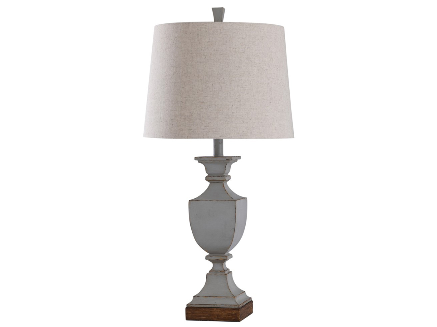 "Antique Gray Farmhouse Table Lamp 30""H"