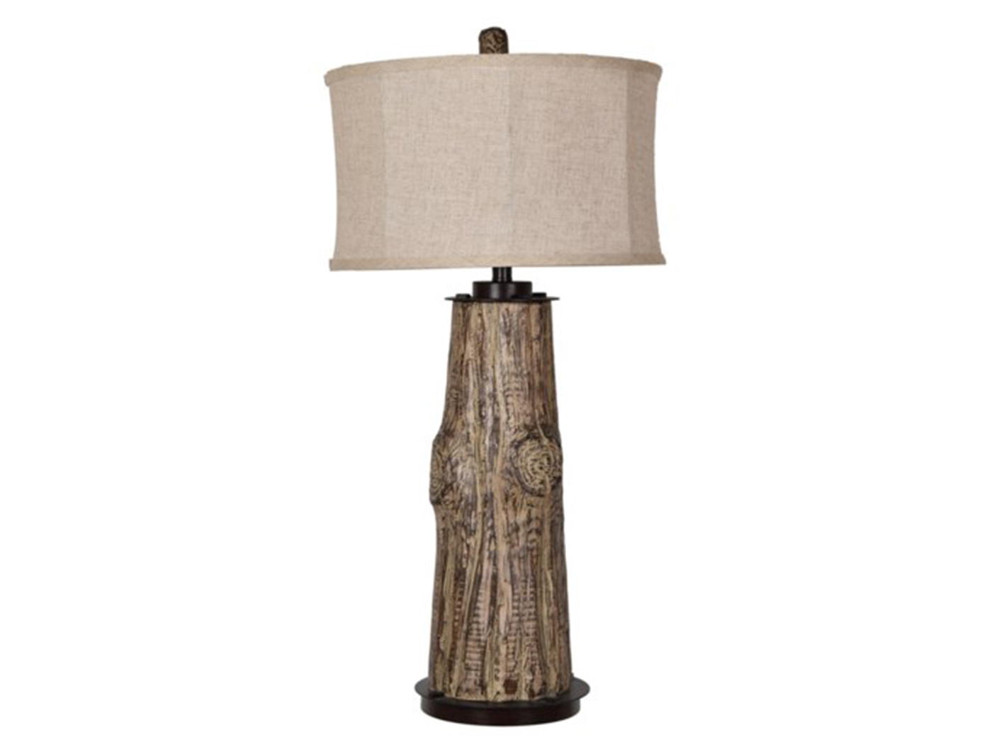 "Tree Trunk Table Lamp 35""H"