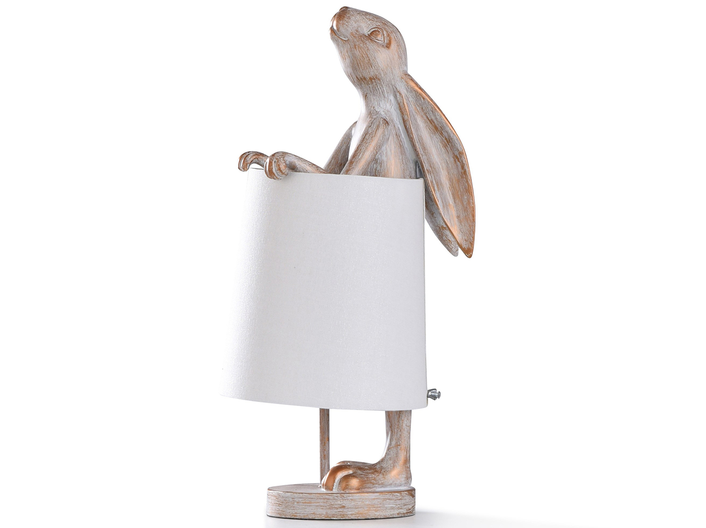 "Antique Gold Rabbit Accent Lamp 23""H"