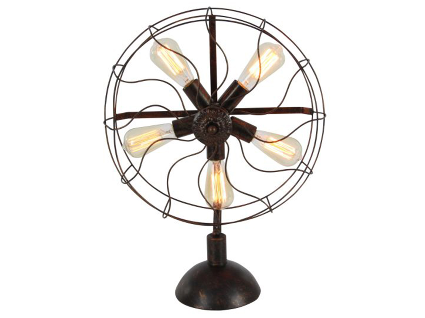 "Metal Fan Accent Table Lamp 18""W x 24""H With Bulbs"