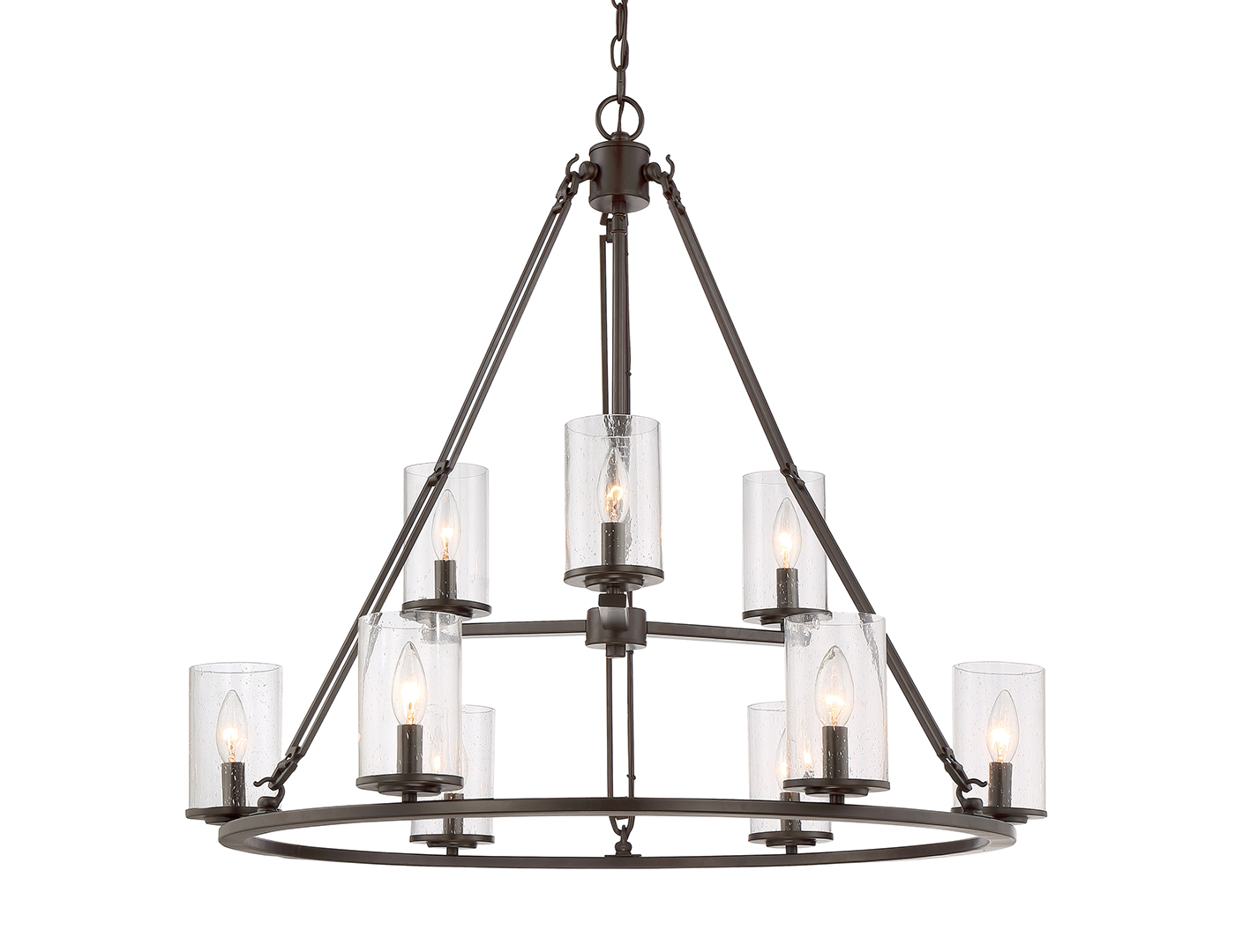 "Buchanan Rods Chandelier 30X33X33""D"