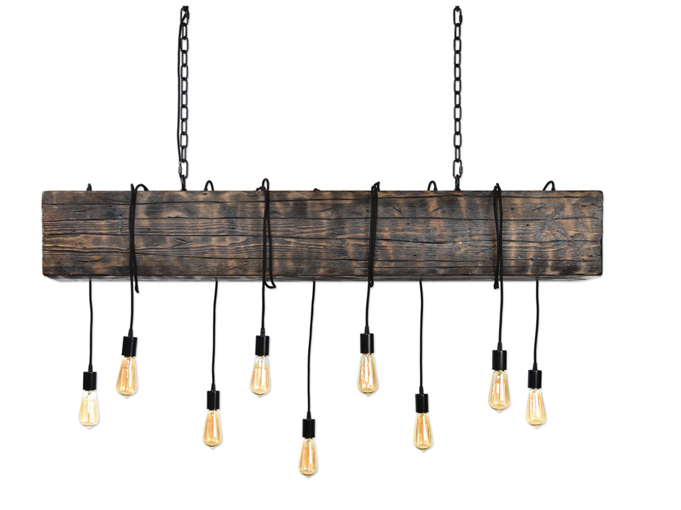 "Railroad Tie Chandelier 60X9X118""H"