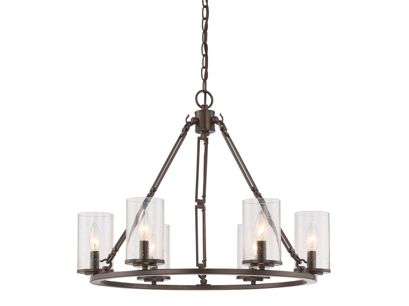 "Buchana Rod Chandelier 25""W x 20""H"
