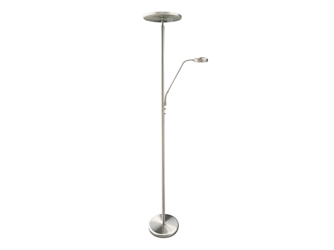 "Brushed Nickel With Reading Light LED Torchiere 72""H"