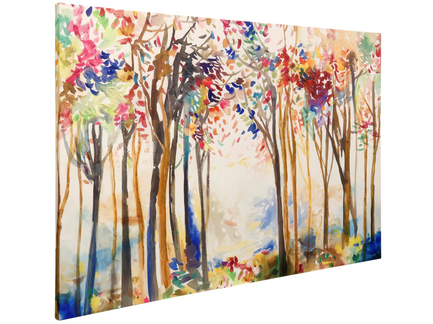 Colorful Forrest Handpainted Canvas