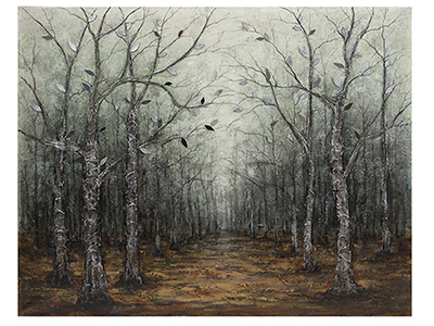 "Capaneus Mirrored Leaves Oil Painting 50""W x 40'""H"