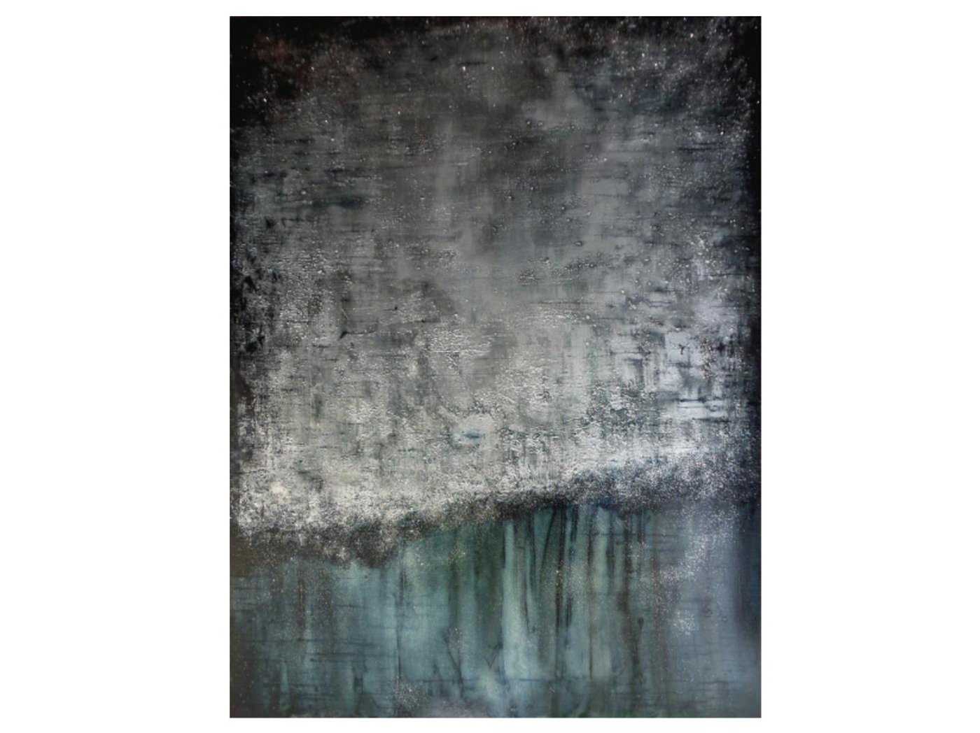 "Twiight Glow Abstract Canvas Art 50""W x 66""H"