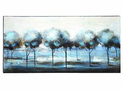 "Blue Trees Canvas Art 55""W x 28""H"