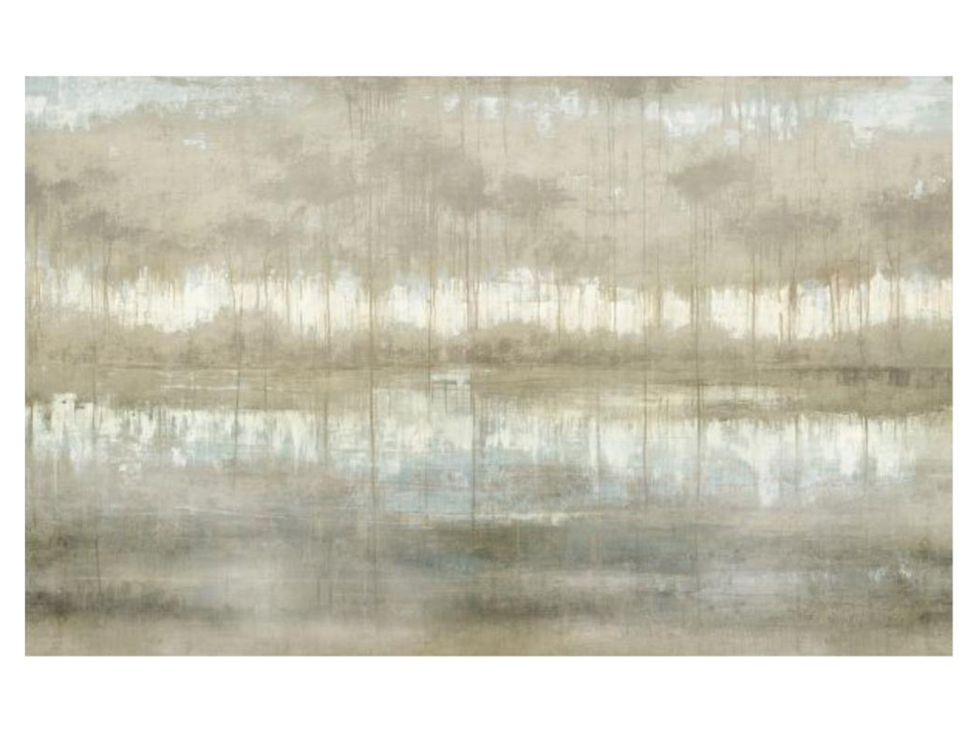Abstract Lake Canvas