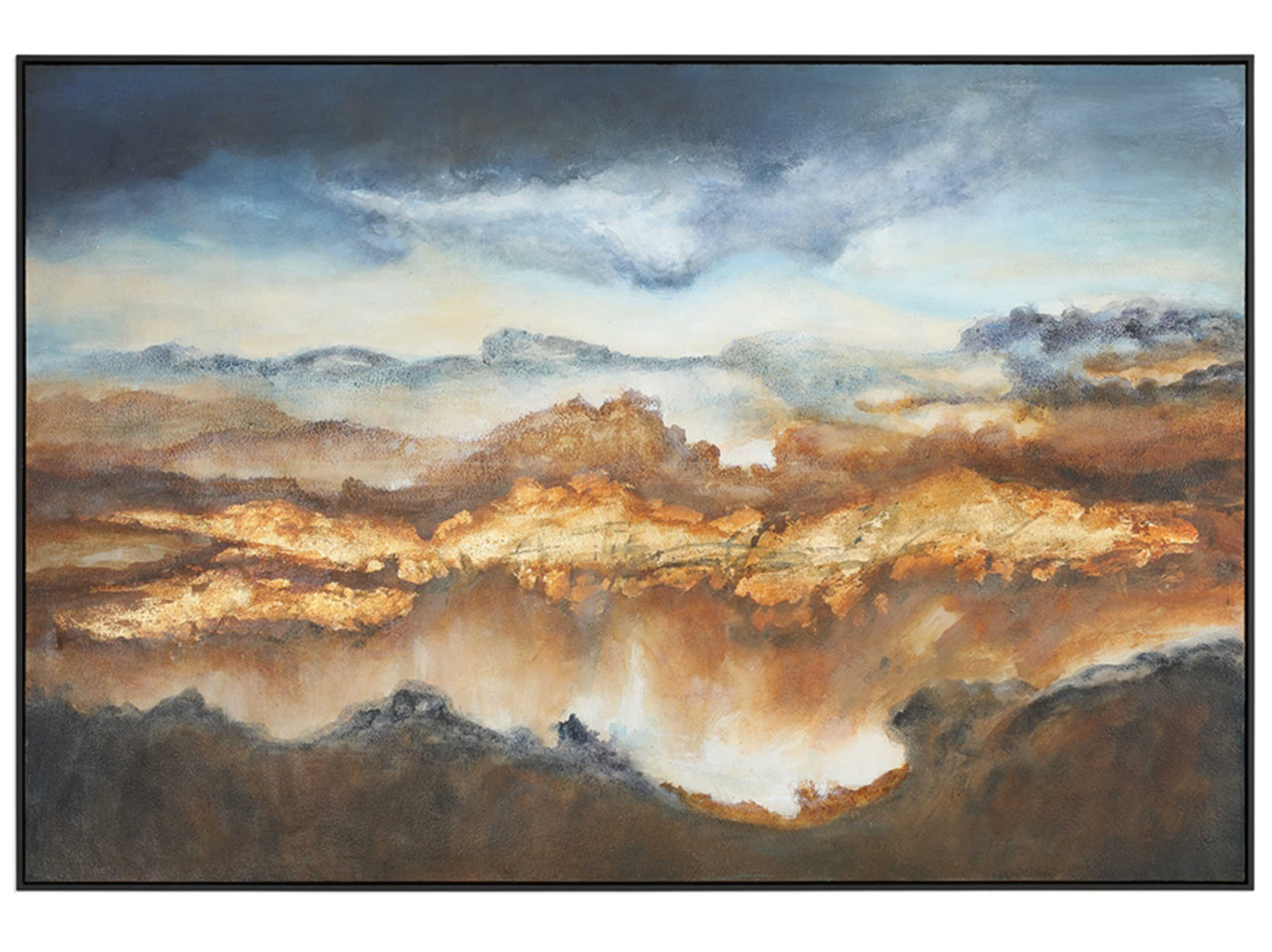 "Light Valley Handpainted Canvas 73""W x 49""H"