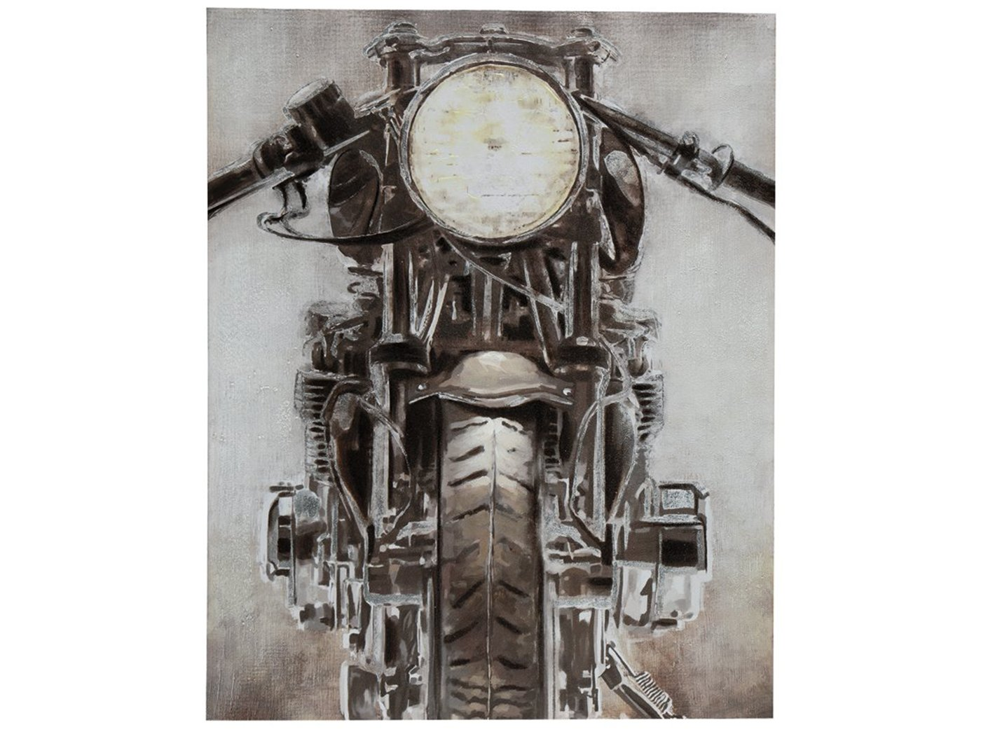 "Motorcycle Handpainted Canvas Art 39.37""W x 49.21""H"