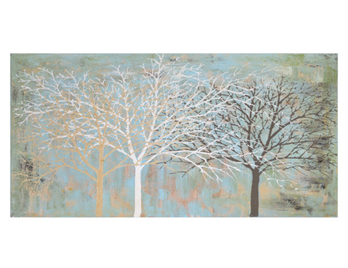 Sparse Wood Canvas Art