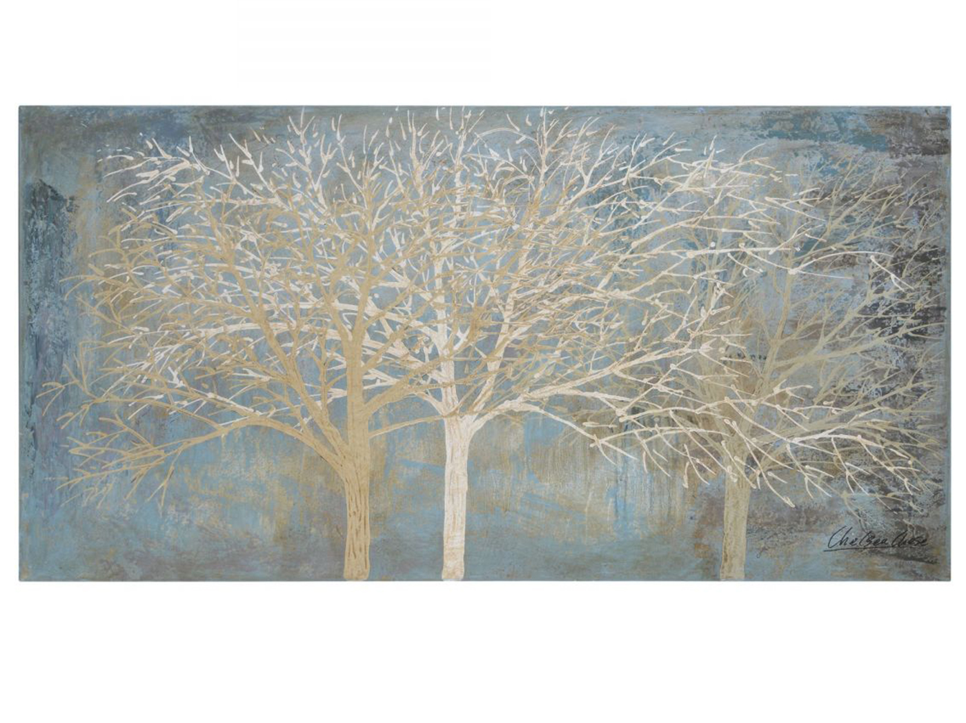 "Bare Trees Handpainted Canvas 60""W x 30""H"