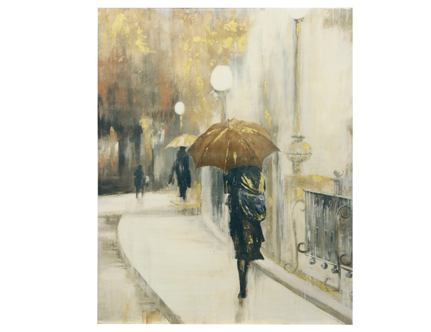 Woman with Umbrella Canvas Print