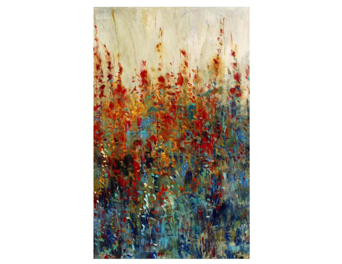"Abstract WIldflower Patch Canvas 36""W x 58""H"
