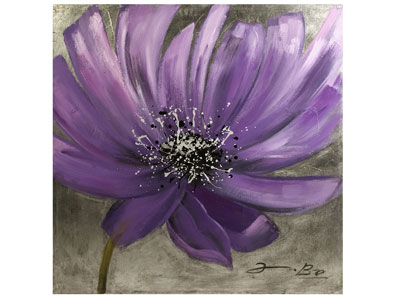 "Frisian Purple Flower Painting 40""W x 40""H"