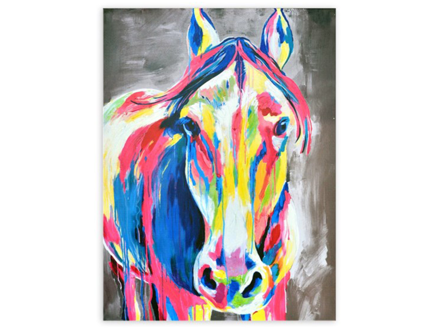 "Multi Colored Horse Canvas 30""W x 40""H"