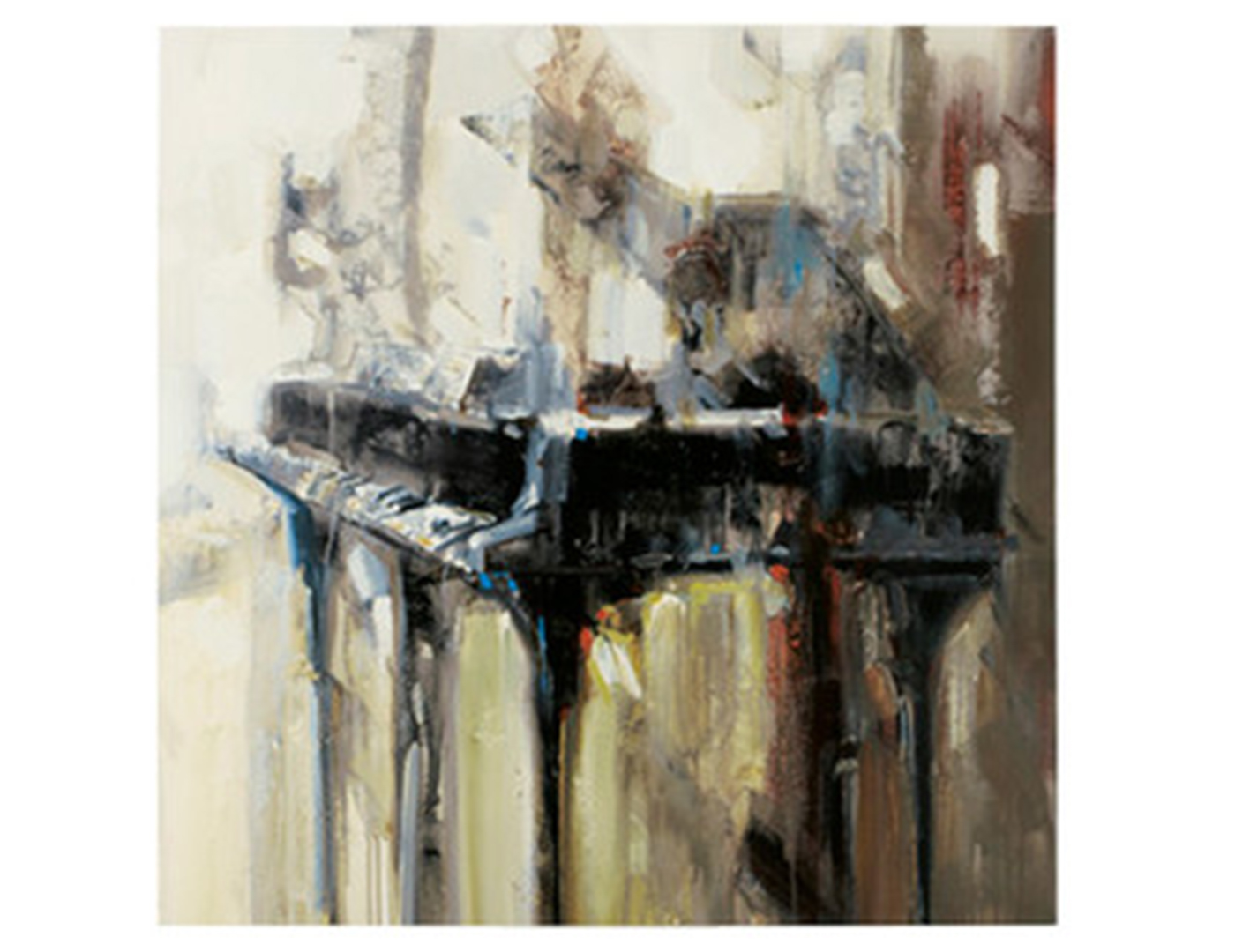 "Piano Canvas Painting 48""W x 48""H"