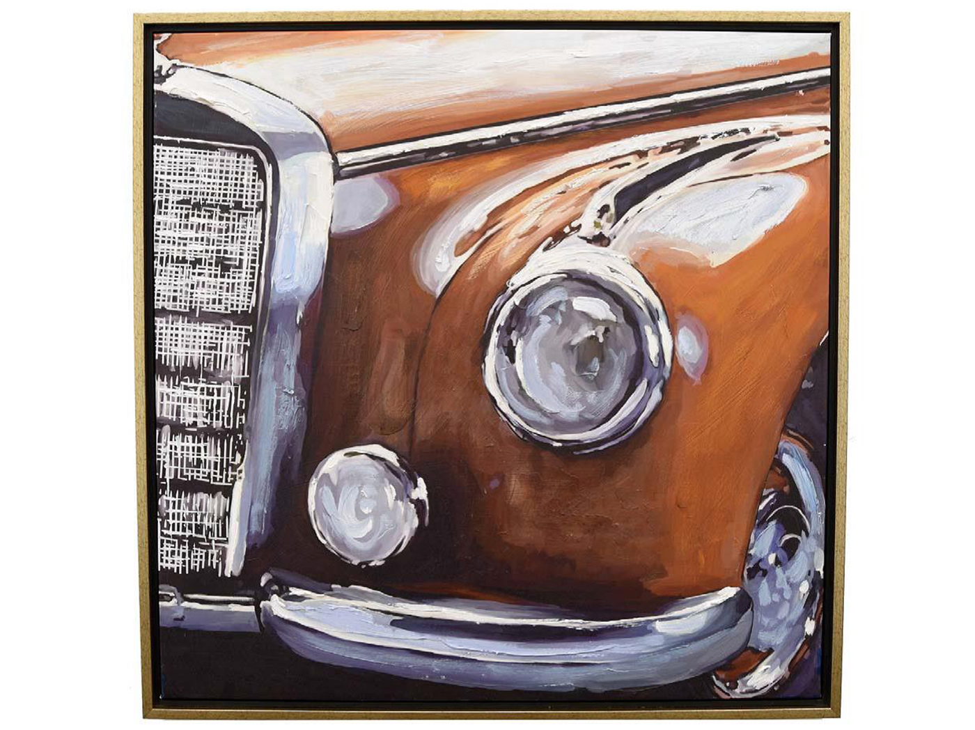 "Spice Vintage Car Fender Framed Canvas 31.5""W x 31.5""H"