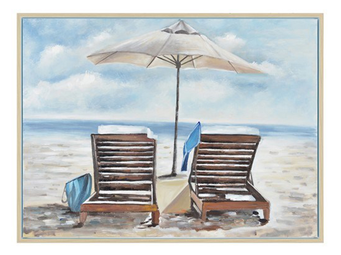 "Relax on the Beach Framed Canvas 47""W x 35""H"
