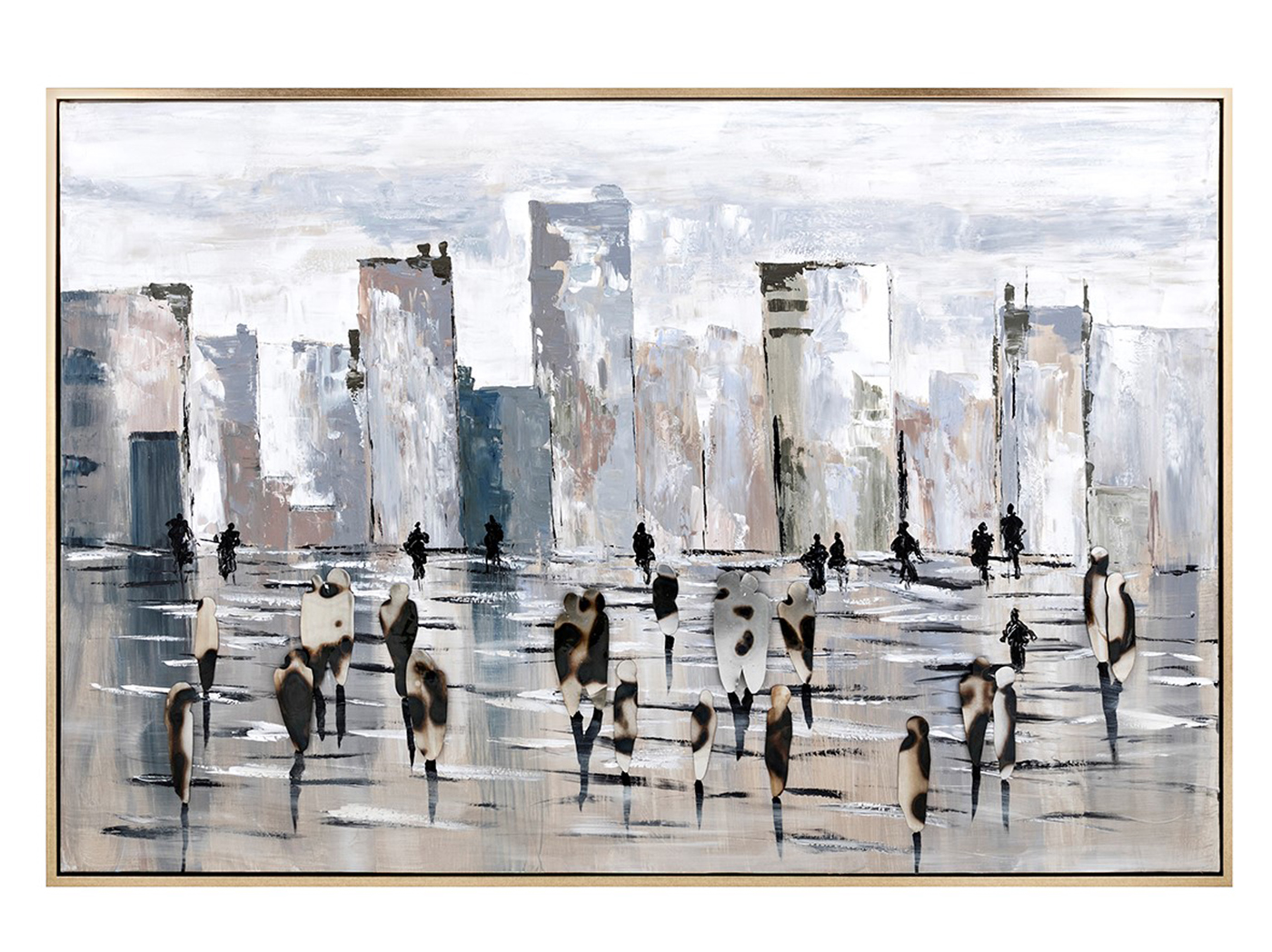 "Oxidized City Oil Painting 74""W x 50""H"
