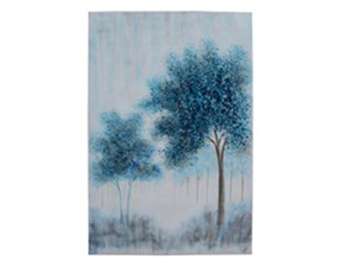 Secluded Blue Trees