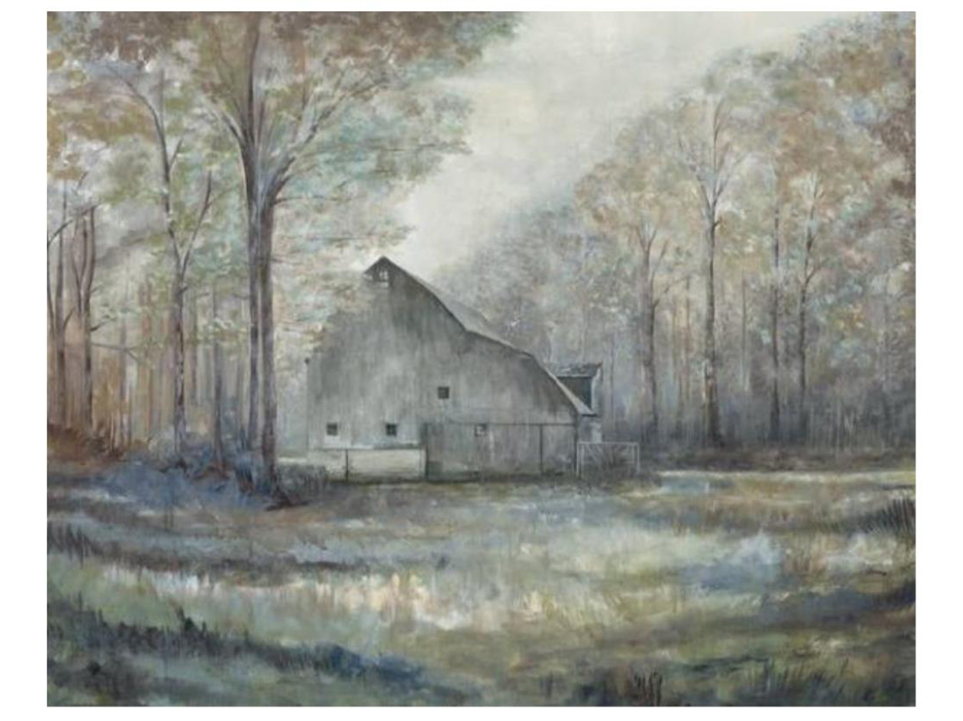 "Barn in the Country Canvas Art 60""W x 48""H"
