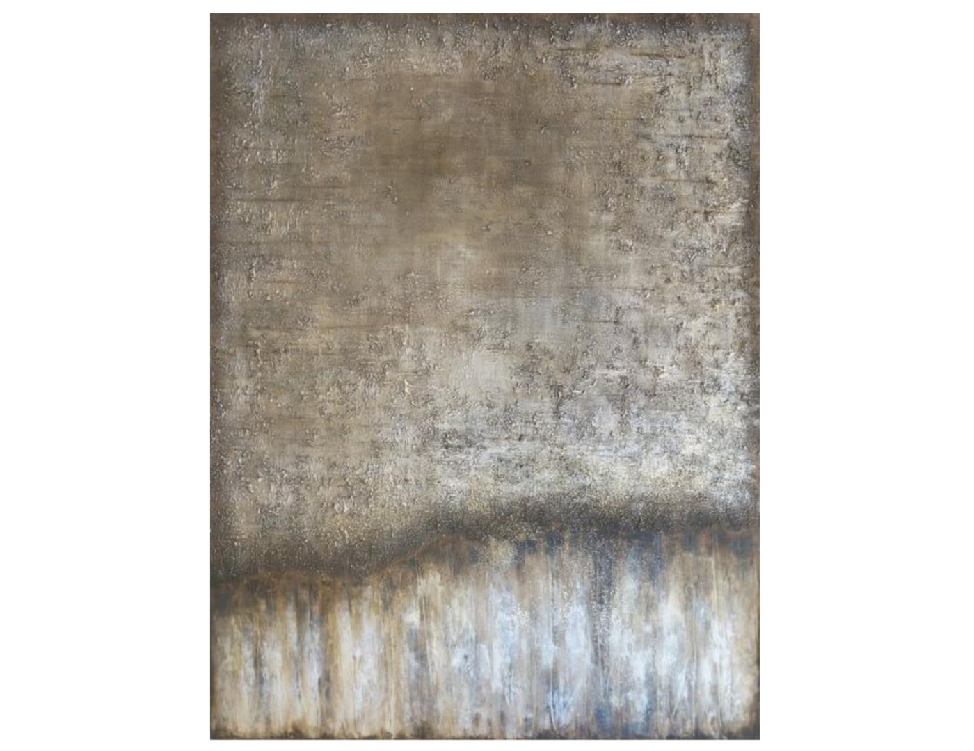 "Abstract Golden Glitter Canvas 50""W x 66""H"