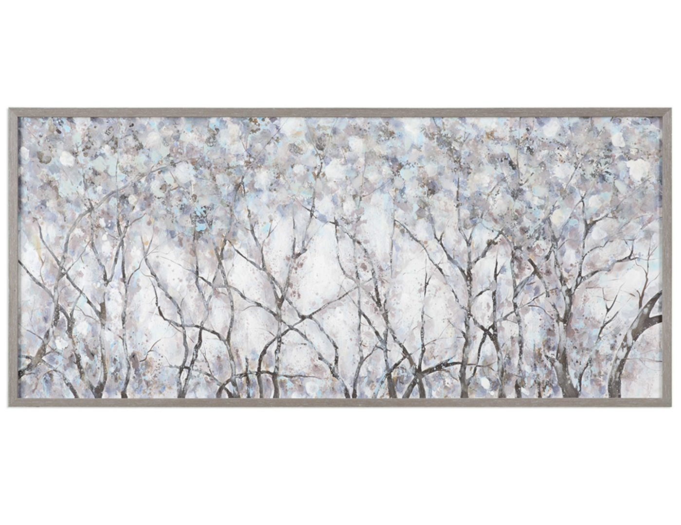 "Grey Forest Framed Canvas 72""W x 31""H"